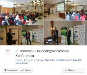 III. Innovatív Hulladékgazdálkodási Konferencia