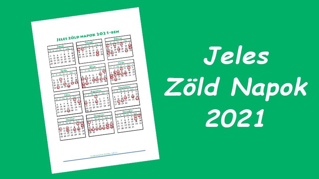 Jeles Zöld Napok 2021 – itt a frissített naptár